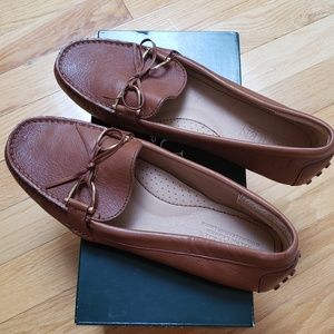 RALPH LAUREN Brown Leather Loafers